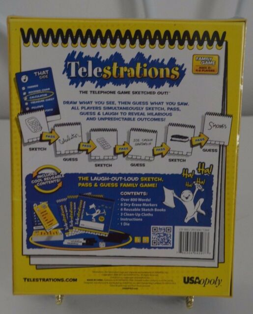 Telestrations Usaopoly Original 8 Player Board Telephone Family Game