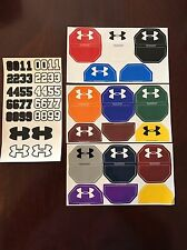 Under Armour Football Helmet Visor Eye Shield Decals Sticker Tab Sheets Black
