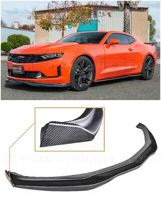 For 19-Up Camaro RS /& SST6 Style CARBON FIBER Front Bumper Lip Wing Splitter