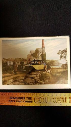 worrall greeting card summer 57 car farm david A