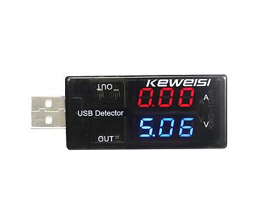 5A 9V Dual-USB Charger Doctor Voltage Current Detector Digital Ammeter Voltmeter