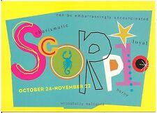 Scorpio October 24 - November 22 Sign of the Zodiac Modern Rack Postcard