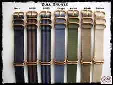 Cinturini NATO ZULU Bronze misure: 22-24mm. Nylon Zulu Straps. ENTRATE!!!