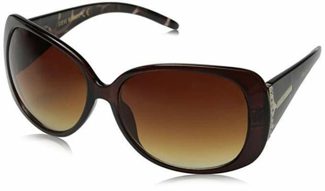 NEW Steve Madden Women/'s S5482-OXTS Oval Kylie Sunglasses  Black Tortoise