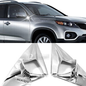 Chrome-Side-View-Mirror-Bracket-Molding-Cover-Trim-K045-for-KIA-2010-12-Sorento