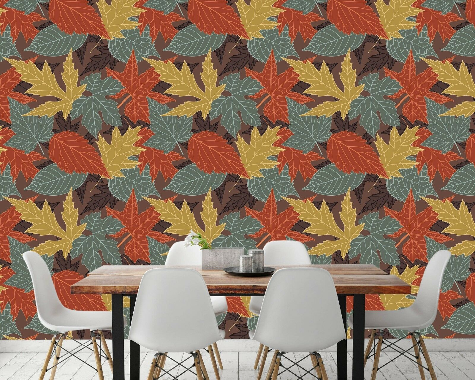 3D Maple Leaf Texture 5 Wall Paper Wall Print Decal Wall Deco Indoor Wall Murals