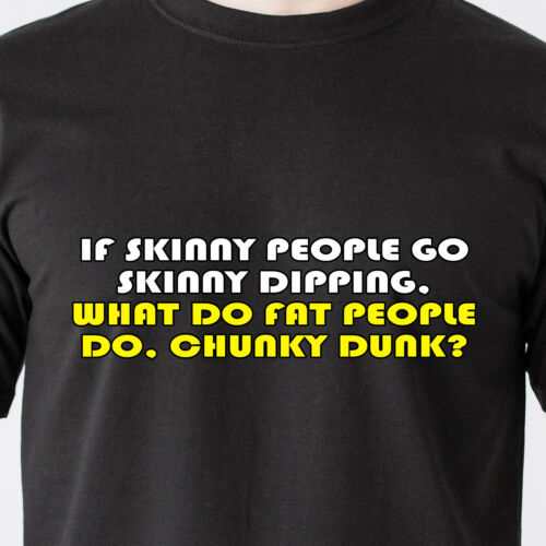 I was young we used to go skinny dipping now I just chunky retro Funny T-Shirt