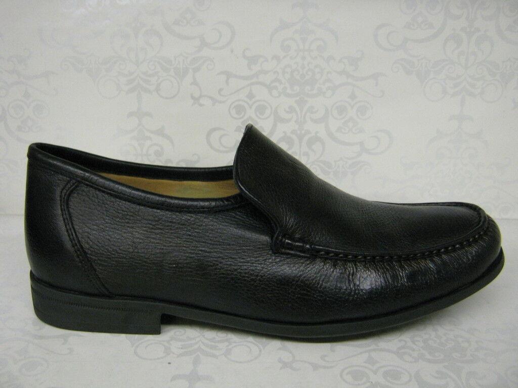 Anatomic Gel Torres Black Leather Slip On Moccasin Shoes