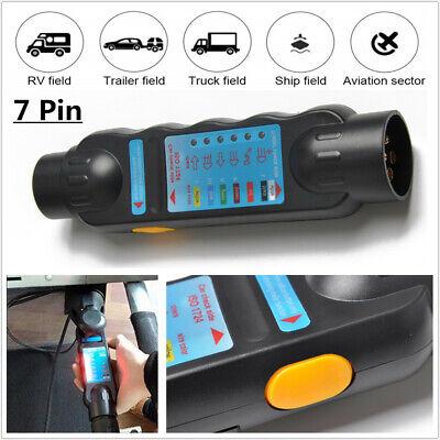 Trailer 7 Pin LED light Wiring Circuit Tester Cable Plug Socket Car Caravan RV