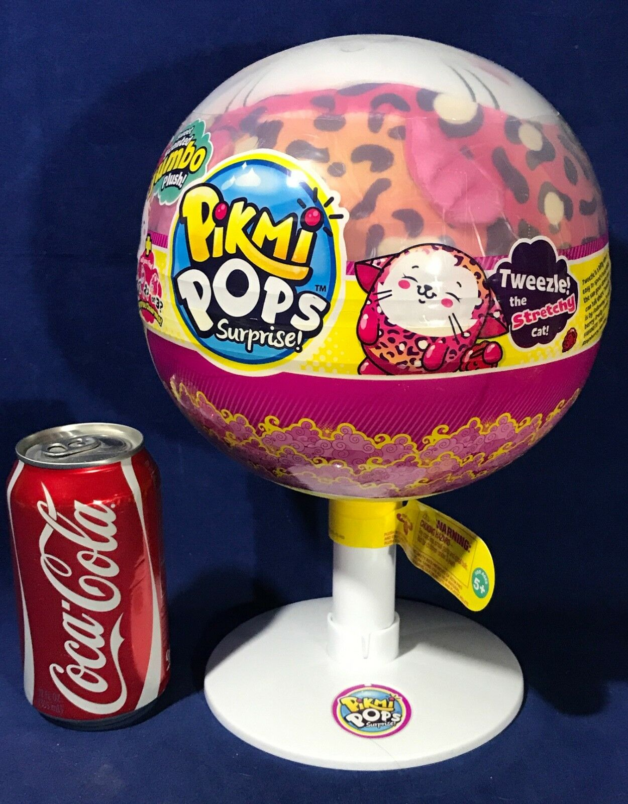 New TWEEZLE STRETCHY CAT Pikmi Pops SURPRISE Scented JUMBO PLUSH Lollipop CHARM