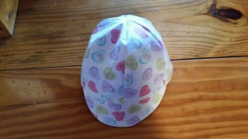 WELDING CAP MADE WITH VALENTINE HEARTS  CANDY FABRIC