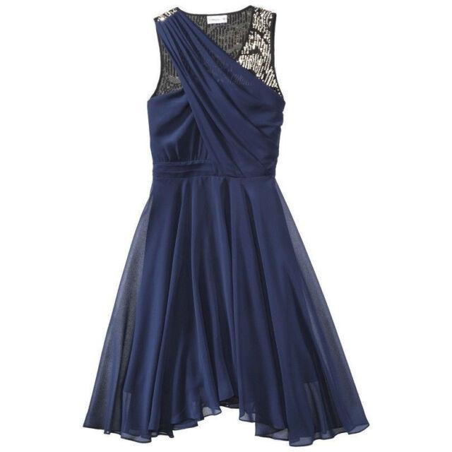 31 Phillip Lim For Target Evening Prom Blue Chiffon Sequin Dress