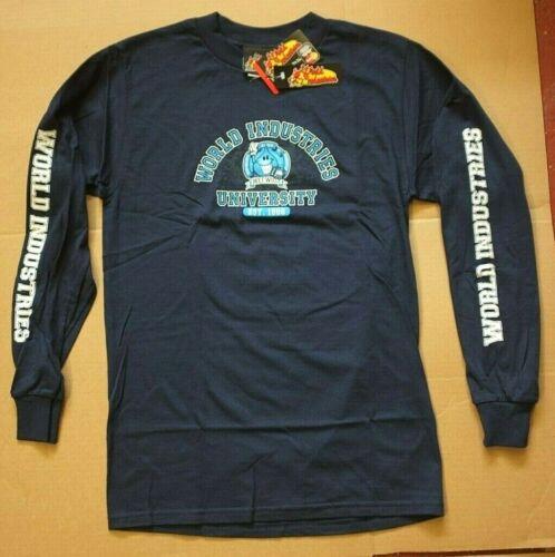 M Navy a S World Skateboard Industries lunghe Uni maniche Wet Nos Maglietta Willy qFRgWCvw