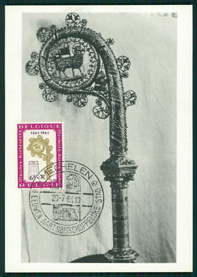 Diverse Philatelie Briefmarken Ausdauernd Belgien Mk 1961 Mecheln Bischofssitzbischofsstab Maximumkarte Mc Cm Dz86