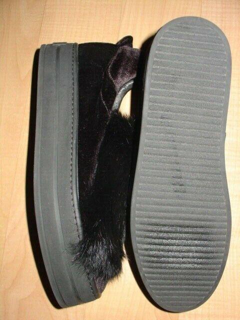 GABRIELLA MICHEL FS schwarz schwarz schwarz SUEDE SLIP ON Turnschuhe schuhe sz 40 US 9.5 b79f47