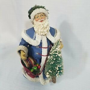 Santa Gifts Tree Blue Suit Figurine Clothique By Possible Dreams Box Preowned Ebay