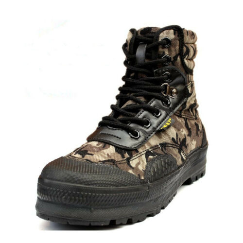 Mens Camouflage Combat Army Tactical High Top Military Work Shoes Ankle Boots
