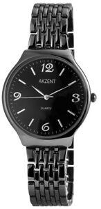 Akzent-Herrenuhr-Schwarz-Titan-Look-Analog-Metall-Armbanduhr-XSS8871000028