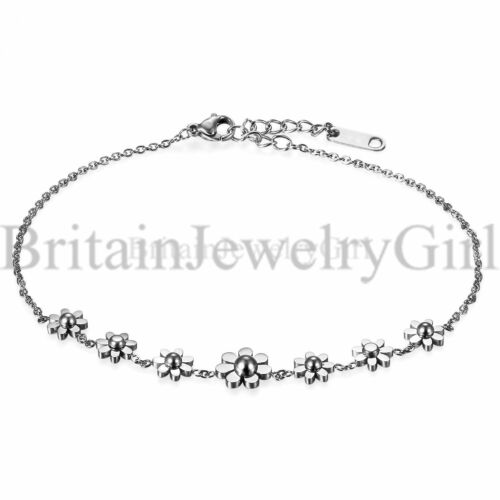 Acier Inoxydable Daisy Fleurs Bracelet Bracelet Pour Femmes Bijoux Mother/'s Gift