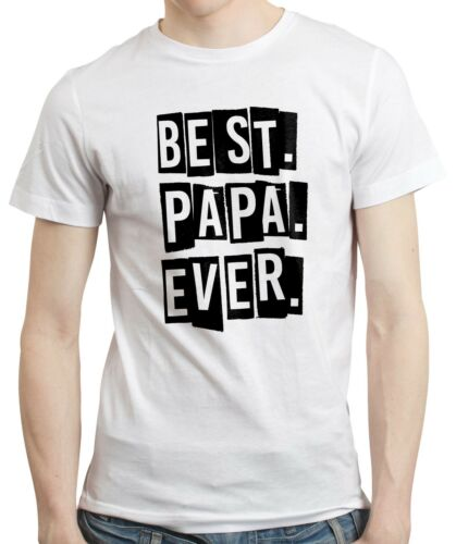 Best Papa Ever T-shirt Tshirt Tee Dad New Daddy Fathers Day Birthday Gift