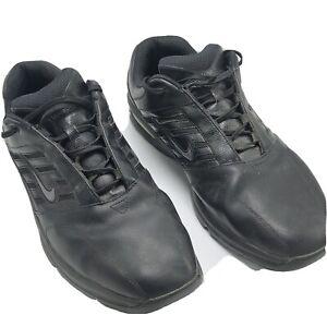 Nike Black Leather Golf Shoes Size 15