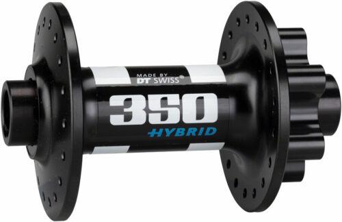 15 x 110mm 6-Bolt Disc 36h Black DT Swiss 350 Front Hub