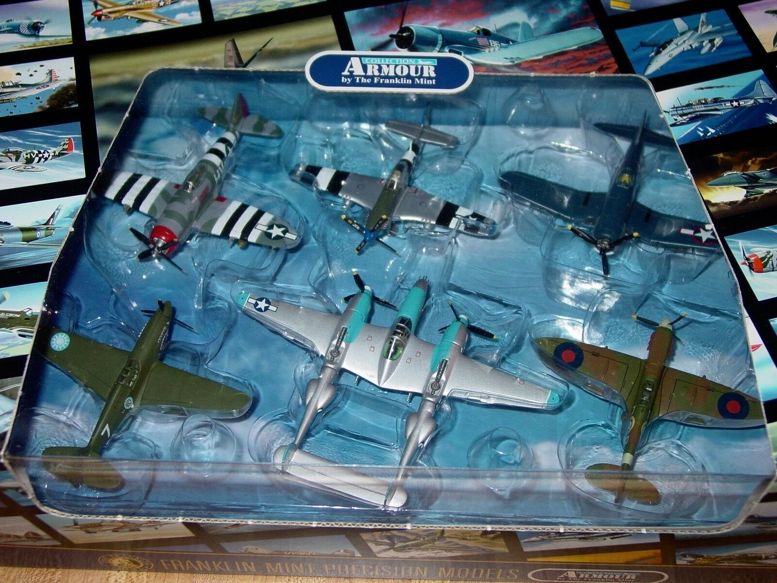 nyA Franklin Mint Armor die-cast 6 plan WWWII Fighters 1 100 skala B11C359