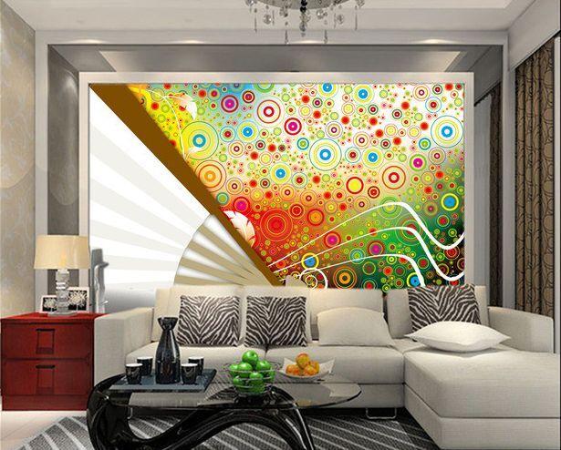 3D Modello colorato 46 Parete Murale Carta da parati immagine sfondo muro stampa