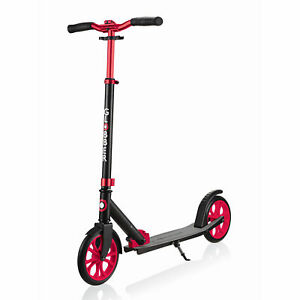 Globber-NL-500-205-Lightweight-Foldable-2-Wheel-Kick-Scooter-Black-and-Red