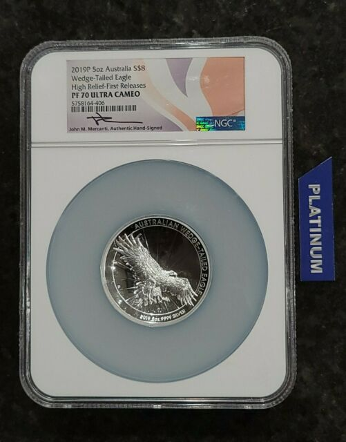 2016-P NGC Australia Silver Wedge-Tailed High Relief PF70 UC Mercanti Signed