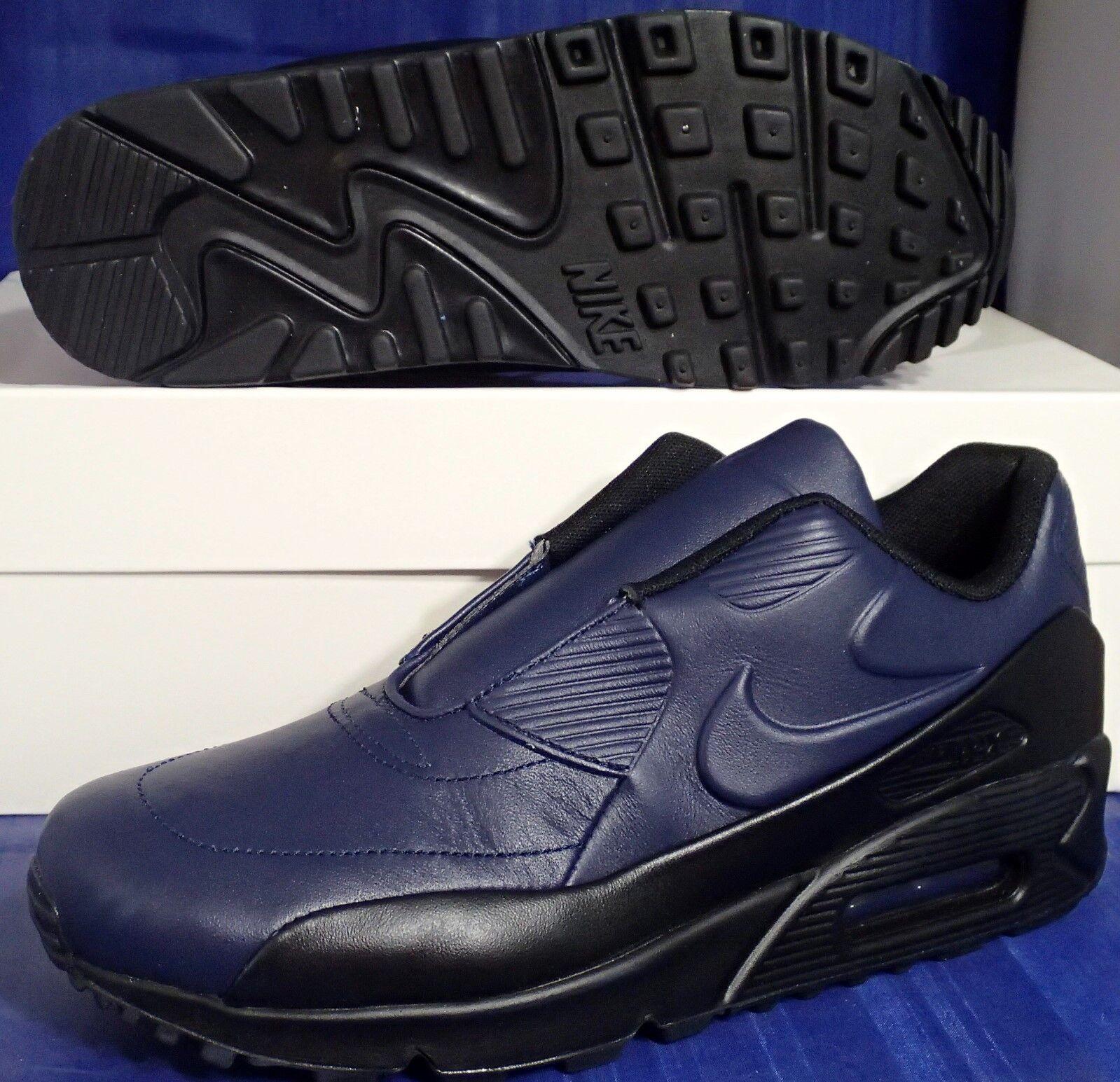 Womens Nike Air Max 90 SP Sacai NikeLab Obsidian bluee Black SZ 8.5 (804550-440)
