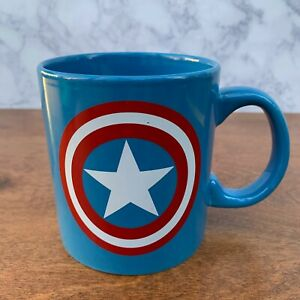 Captain-America-Shield-Marvel-Comics-20-oz-Ceramic-Coffee-Mug-Tea-Cup-Blue