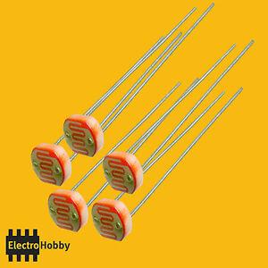 5x-FOTORESISTENZA-LDR-GL5528-5mm-10K-a-1M-ohm-Arduino-3D
