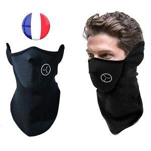 cagoule masque tour de cou neoprene polaire moto ski protection visage froid ebay. Black Bedroom Furniture Sets. Home Design Ideas