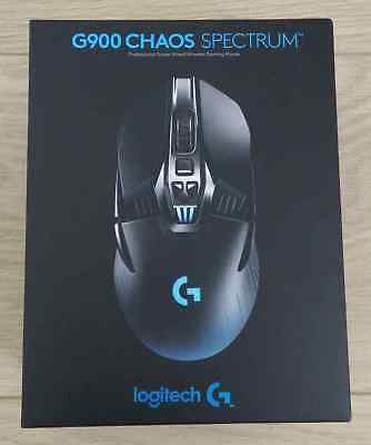 Logitech G900 Chaos Spectrum Wireless//USB Optical Gaming Mouse 910-004558 Sealed
