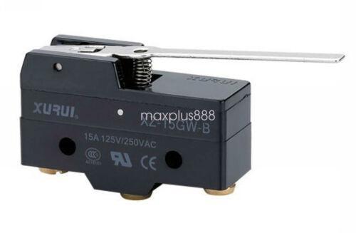 NC Miniatura Básico Micro Switch SPDT Bisagra Palanca Tipo 15A 125V 1pc XZ-15GW-B NO