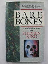 UNDERWOOD & MILLER (eds.) - BARE BONES (1989) – STEPHEN KING