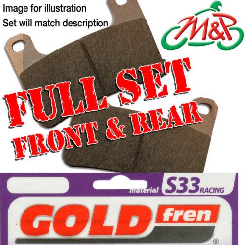 YZF R6 5SL1 5SLB 5SLM 2C01 2C0B 13S1 13SB 2008 Full Set S33 Disc Brake Pads