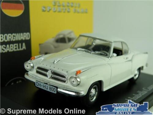 Borgward Isabella Coupe Coche Modelo Escala 1:43 Blanco Clásico ATLAS NOREV Deportes K8