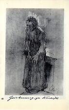 Käthe Kollwitz Werke: Zeichnung zu Kneipe / Scene aus...Historische Grafik 1930