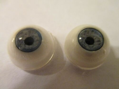3 Pr  12 mm Blue Judith Howe Vintage Porcelain Eyes Nice Threading 6mm Iris JHBL
