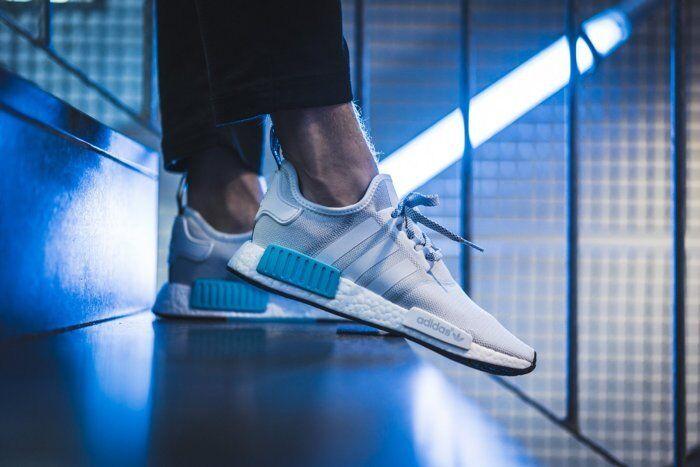 Adidas Originals nmd_r1 en blanco 10-11.5-12 / brillante s31511 SZ 10-11.5-12 blanco cyan 19ef57