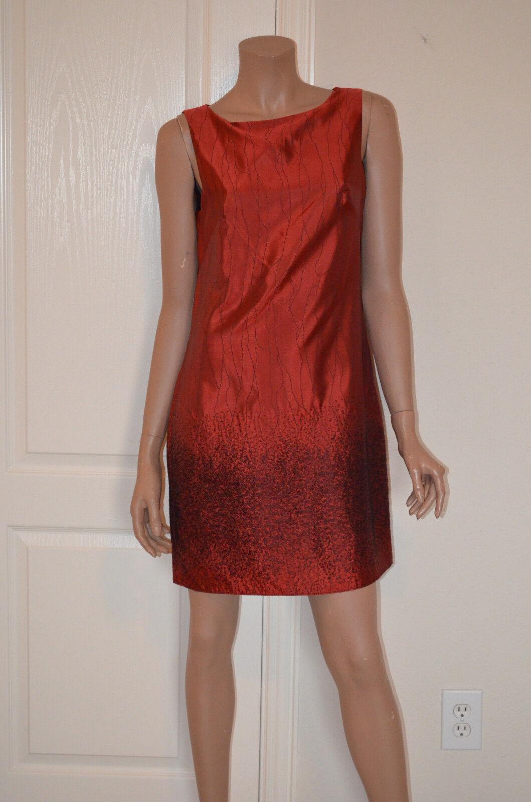 Mssp - S (4-6) Rosso rosaria Jacquard Vestito con Fodero - Retail
