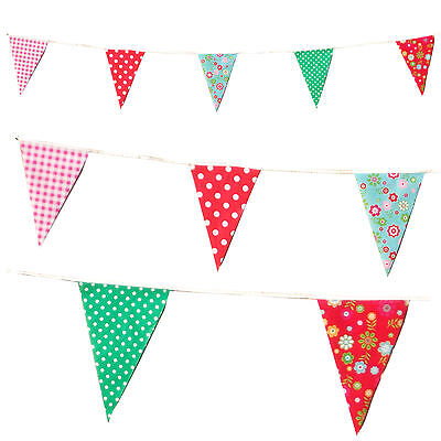 Vintage Wedding Bunting Tea Party Cottage Polka Dot Floral Check Flags C1002