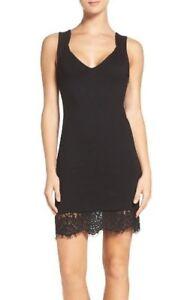 8b4c1185103 French Connection US 6 Black Sheath Lace Bodycon Dress Sleeveless ...