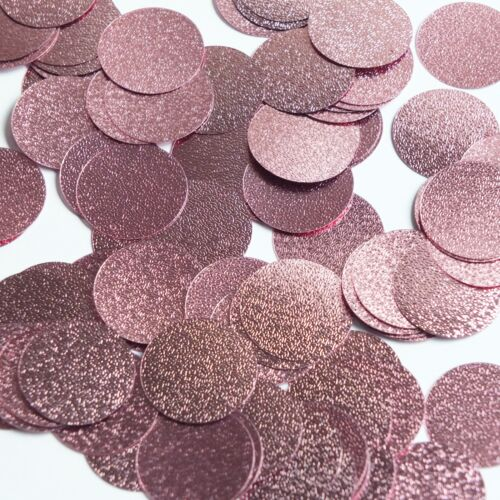 Round Sequin 24mm Pink Metallic Embossed Texture Loose Couture Paillettes