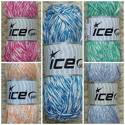 DK Knitting Wool 100g Cottonac Cotton Mix Double Knitting Cotton Yarn Ice Yarns