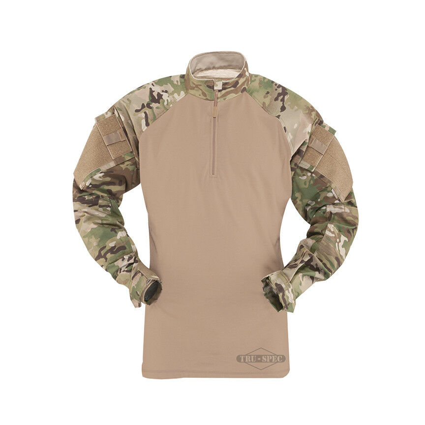 Tru-Spec Multicam/Coyote 1/4 Zip Zip 1/4 TRU Combat Shirt 50/50 NYCO RS d2ae62