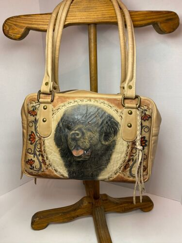 Purse 100 % Cureo Dog Lab Western hobo Leather