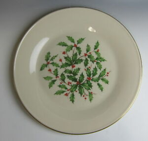 Lenox-China-SPECIAL-HOLLY-amp-BERRIES-Dinner-Plate-s-EXCELLENT